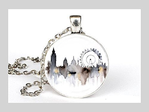 London Necklace in Silver Unique Necklace -
