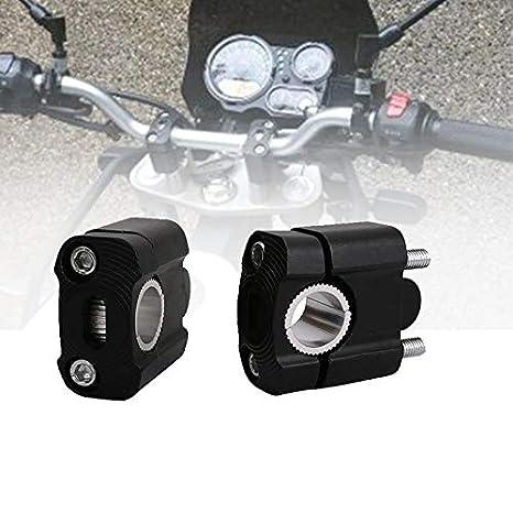 Andifany 1 Pair Cnc 22Mm 28Mm Off Road Motorcycle Bar Clamps Handlebar Risers Adapter for 7//8 1-1//8 Pit Dirt Motorbike for Harley Kawasaki Yamaha Black