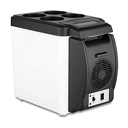 Electric Car Refrigerator 12V Cooler Warmer 6L Capacity Travel Portable Freezer Beverage Drink Cans Food
