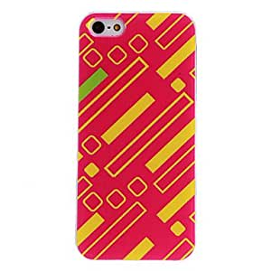 FJM Colorful Geometry Bar Pattern PC Hard Case with Transparent Frame for iPhone 5/5S