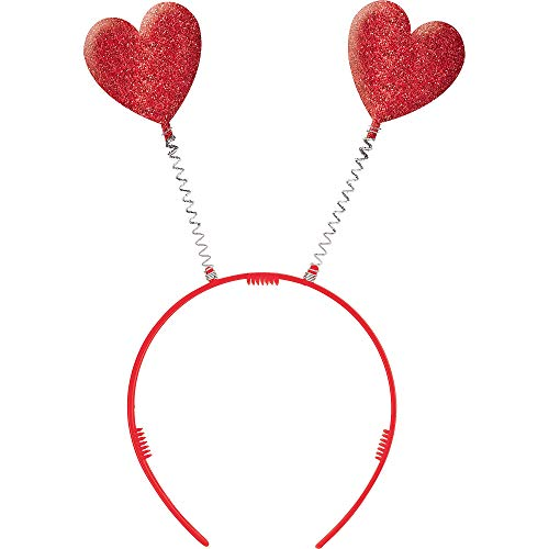 Amscan Valentine Red Plastic Heart Headbopper | Party Accessory -