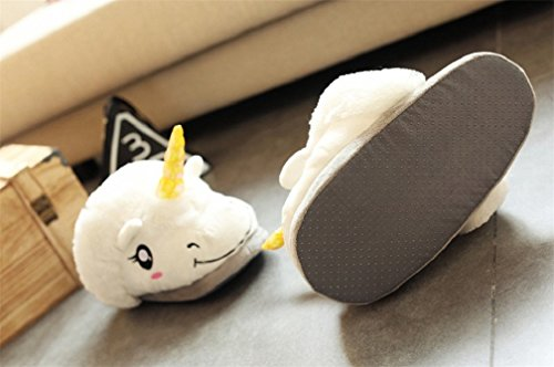 Ciabatte Pelose Lealac Comode Pantofole Antiscivolo Bianco Caldo In Peluche