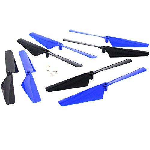 Traxxas LaTrax Alias Quadcopter 8 BLUE & BLACK ROTOR BLADE Screws Propeller