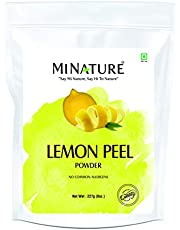 Lemon Peel (Citrus Limon) Powder by mi nature| 100% Pure and Natural | 227g,(8oz), (1/2 lb) | Vegan | Non-GMO | For Skin care | Used for Soap making | Stimulate hair growth