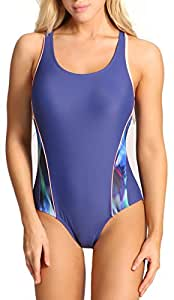 Womens Athletic One Piece Bathing Suits Racerback Swimsuit Racing Training Sports Swimwear Size S