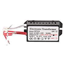 Electronic Transformer - SODIAL(R) 110V to 12V 60W Halogen Light Power Supply Converter Electronic Transformer Black