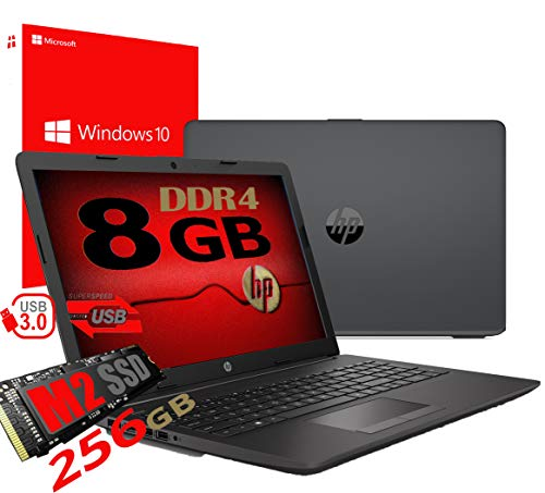 Notebook Pc Portatile HP 255 G7 Display 15.6″ /Cpu Amd A4 da 2,3ghz A 2,6GHz /Ram 8Gb ddr4 /SSD M2 256GB /Vga Radeon R3 / Hdmi / Masterizzatore Wifi Bluetooth /Licenza Windows 10 pro + Open Office
