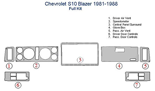 Chevrolet S10 Blazer Full Dash Trim Kit – Japanese Cherry Wood