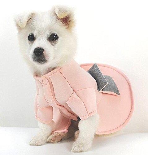 Wanyne Costume Robe De Style Princesse Costume Animal Confortable Automne Chien Chat Et Vêtements D'hiver Rose M