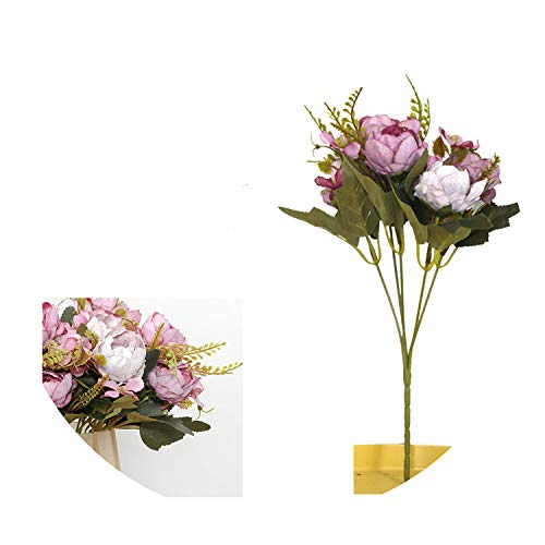 5 Head Bouquet Peony Artificial Flowers Small White Silk Peonies Fake Flowers Wedding Party Home Decoration Rose Flower Pink Art,Purple