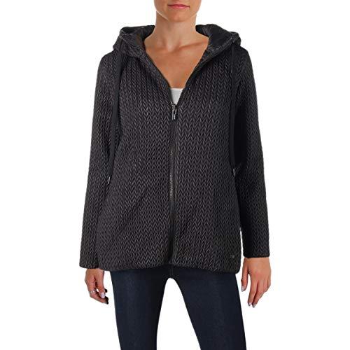 - DKNY Sport Womens Fall Down Puffer Jacket Black XL