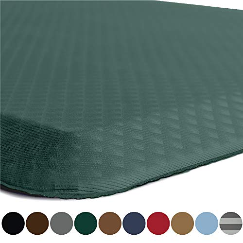 Kangaroo Original Standing Mat Kitchen Rug, Anti Fatigue Comfort Flooring, Phthalate Free, Commercial Grade, Waterproof, Ergonomic Floor Pad for Office Stand Up Desk, 32x20, Hunter Green (Teal Kitchen Mat)