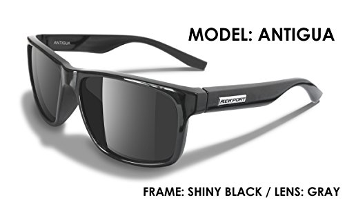 NEWPORT POLARIZED Sunglasses ANTIGUA Shiny Black / Polarized Grey - Grey Sunglasses Ant