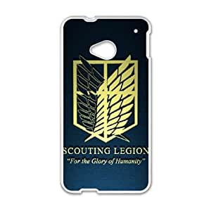 Cover Attack On Titan For HTC One M7 Cell phone Case Tqpr Unique Protective Csaes Cover
