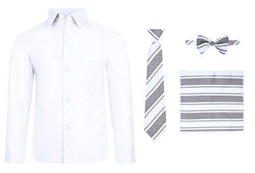 S.H. Churchill & Co. Boy's Dress Shirt & Tie - White, 5 -