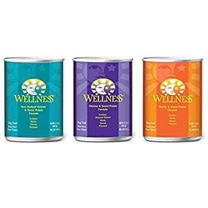 Wellness Complete Natural Dog Food Variety Pack - 3 Flavors (12 Pack)