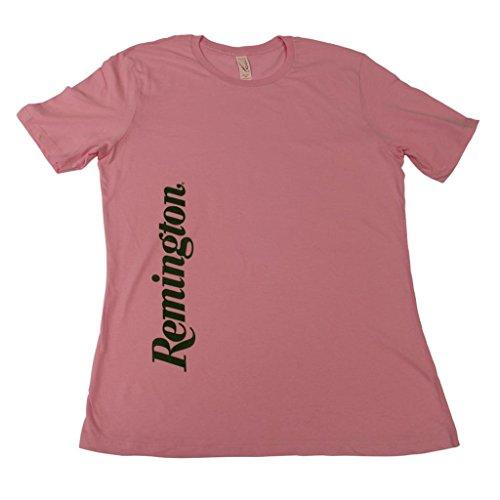 (Remington Womens Vertical Brand Logo Short Sleeve T-shirt)