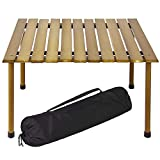 big_store Foldable Portable Wooden Table 6 pounds Picnic Camping Beach Patio Furniture Carrying Case Brown & ebook