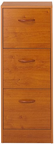 SIMMOB pau303mn archivadores 3 cajones para Carpetas suspendida Panel de Madera/melamina Cerezo 44 x
