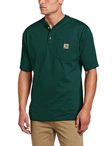 Carhartt Men's Workwear Pocket Henley Shirt, Hunter Green, 2X-Large