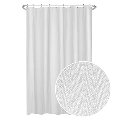 (MAYTEX Herringbone Ultimate Waterproof Fabric Shower Curtain or Liner, 70