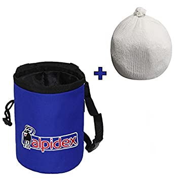 Pack ahorro: Bolsa de magnesia HIGHFLY color Blue Night + Bola de magnesia 35 g de Alpidex: Amazon.es: Deportes y aire libre
