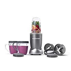 The Nutri Bullet NBR-12 12-Piece Hi-Speed Blender/Mixer System by Magic Bullet is portable, safe for kids, easy to use and effortlessly pulverizes fruits, vegetables, superfoods and protein shakes into a delicious, smooth texture. The Nutri-Bullet's ...