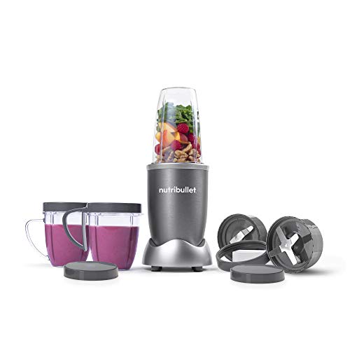 NutriBullet NBR-1201 12-Piece High-Speed Blender/Mixer System, Gray (600 Watts) (I Twist Bluetooth Speaker)