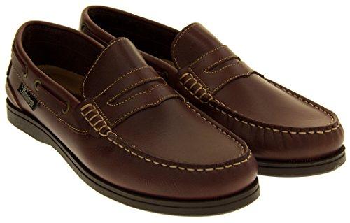 Helmsman 72015 Hombre Cuero Zapatos de la Cubierta Mocasines Redwood