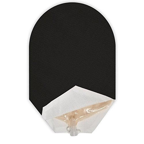 (Solid Color Ostomy Pouch Cover Open Ended (Black) )