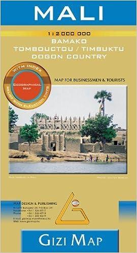 Mali Africa 1 2 000 000 Travel Map With Bamako And Timbuktu