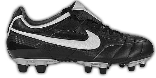 Nike Men's Air Legend FG Soccer Cleats (11, Black/White) ()