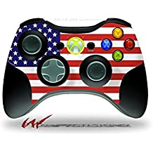 XBOX 360 Wireless Controller Decal Style Skin - USA American Flag 01 (CONTROLLER NOT INCLUDED)