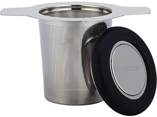 Review Of Simple Modern Tea Infuser 304 Stainless Steel Extra-Fine Brew-in-Mug Tea Strainer with Sil...