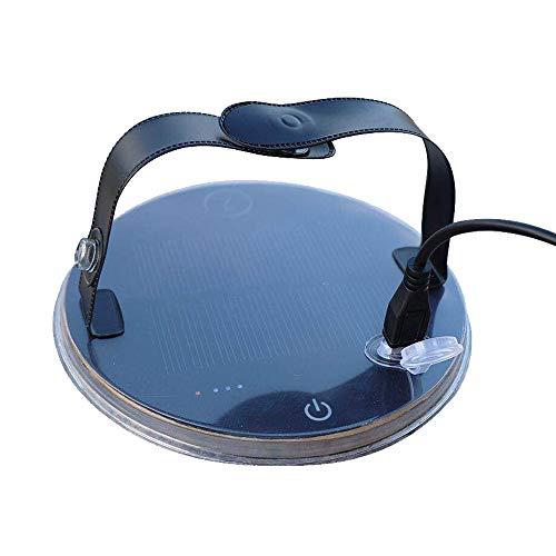 (ZTARX(R) Magnetic Waterproof Hands Free Solar LED Spotlight 3 Way USB Charging)