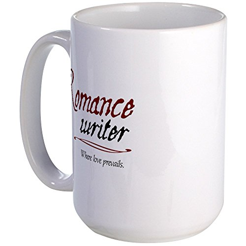 CafePress - Romance Writer-Where Love Pre Large Mug - Coffee Mug, Large 15 oz. White Coffee Cup