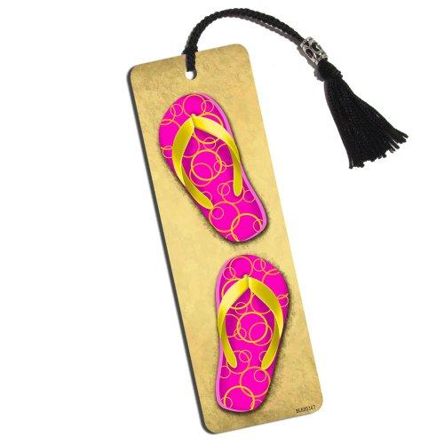 Sandy Flip Flops Printed Bookmark with Tassel (Flip Flop Bookmark)
