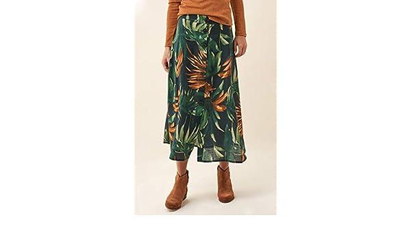 Salsa Falda Media de Flores con Botones: Amazon.es: Ropa y accesorios