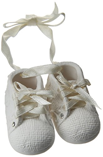 Foundations Baby's First Shoes Personalizable Stone Resin Ornament, - Baby Bootie Ornament