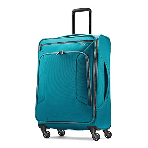 American Tourister 4 Kix Softside Luggage, Teal, Checked-Medium American Tourister Ilite Luggage