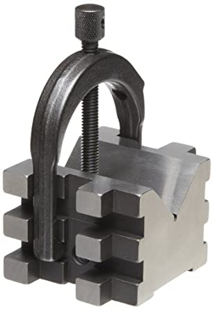 "Starrett 568A V-Block And Clamp For Round Or Square Work, 2"" Diameter Round Capacity, 1-7/16"" Square Capacity (1-9/16"" With Screw At Top)"