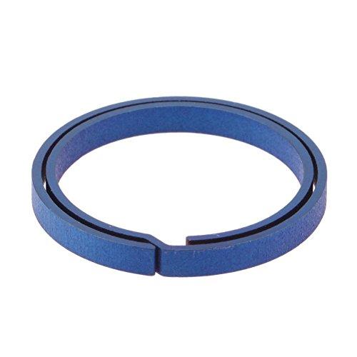Alloet Blue Titanium EDC Key Chain Pure Key Ring Split Hanging Buckle Keyring ()