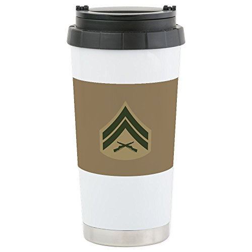 4 Tumbler 16 Oz Mugs - CafePress - USMC: Cpl E-4 (Se - Stainless Steel Travel Mug, Insulated 16 oz. Coffee Tumbler
