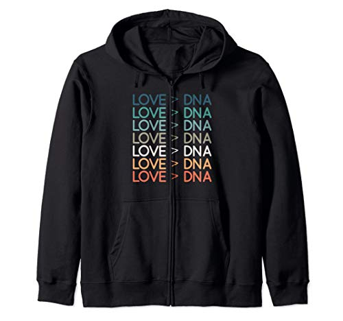 Love Greater> DNA Vintage Distressed T shirt Adoption Foster Zip Hoodie