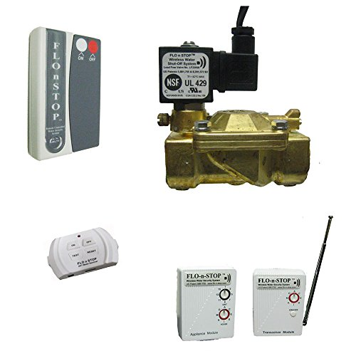 FLO-n-STOP Wireless Water Shutoff System WITH Leak Detection and Alarm (110-120VAC) (Flo System)