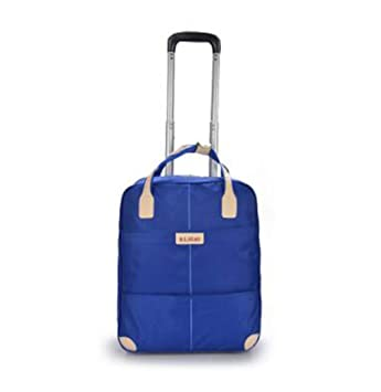 New Travel Trolley Bag With Wheels Women Men Unisex Luggage Bag On Wheel  blue 96c4dfe297