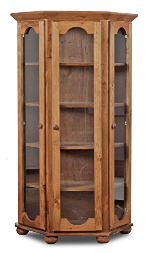 Chelsea Home Edgartown Curio Cabinet in Golden Oak by Chelsea Home