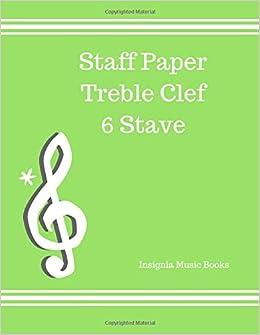 staff paper treble clef
