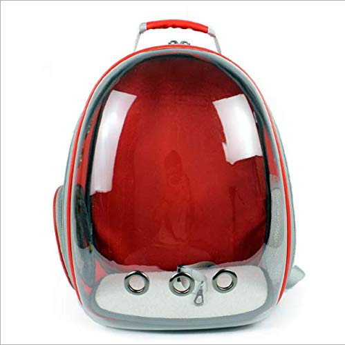 Red GUOWEIKD's store Pet Waterproof Lightweight Capsule Handbag Multiple Air Vents Breathable Pets Cats Dog Animals Safe RucksackComfortable Breathable Pet Backpack 42x29x27CM, Grey