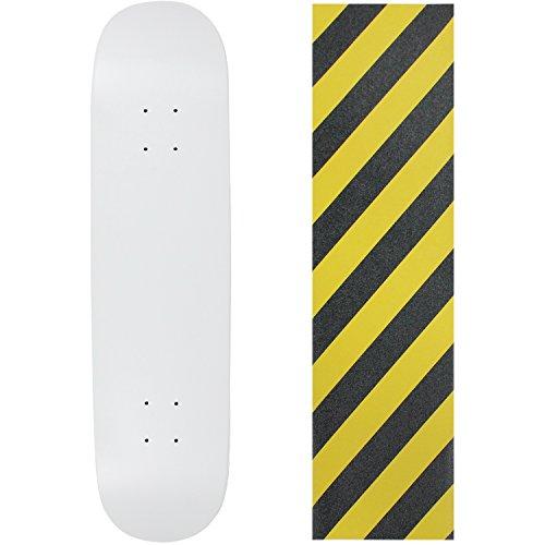 "UPC 742091197114, Skateboard Deck Blank Dipped White 8.0"" Caution Grip"